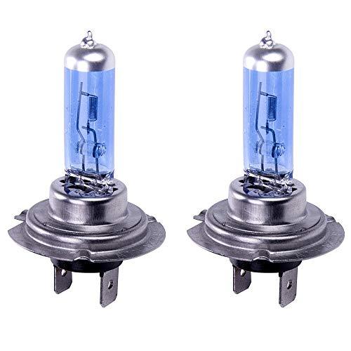 PMWLKJ 2x H7 100w H7 Scheinwerferbirnen 8500k Xenon Lampe Verstecken Super Weiß Effekt Scheinwerferlampen Glühbirnen 12v