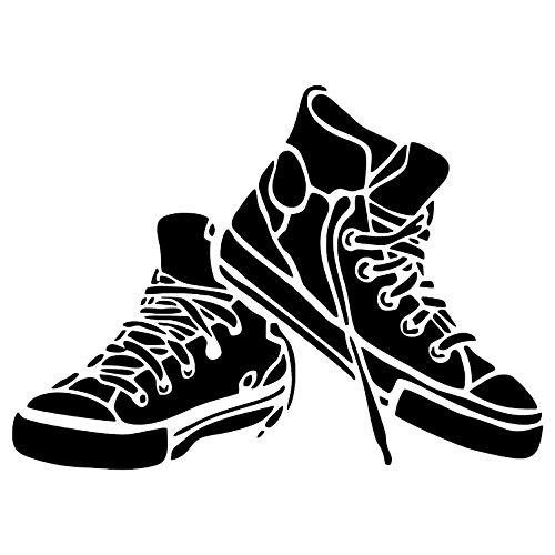 Krevo Art Schablone, Malschablone für Textilgestaltung, Malvorlage, Schablonenpapier Selbstklebend und wiederverwendbar, DIN A4 (Schuhe)