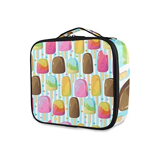 Stockage Coloré Crème Glacée Poches Outils Cosmétique Train Case Trousse De Toilette Maquillage Sac Voyage Portable