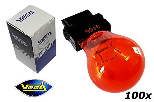 VEGA 100 Ampoules Clignotant Orange PY27W 3156
