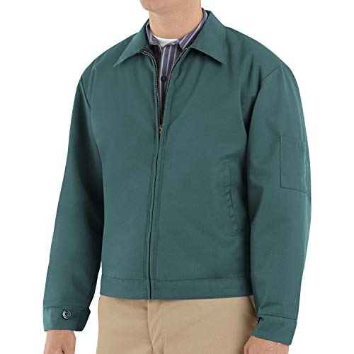 Red Kap Men's Slash Pocket Quilt-Lined Jacket, Spruce Green, Large