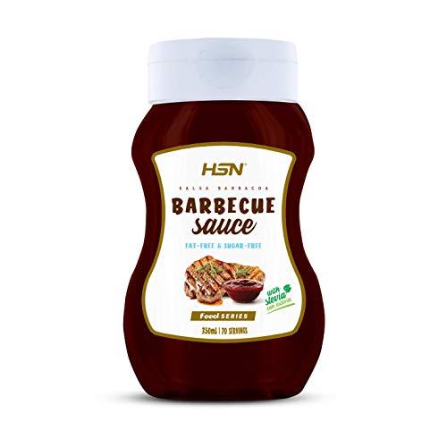 Salsa Barbacoa de HSN - Sin Grasa, Baja en Azúcar, Edulcorado con Estevia, Apto Vegetarianos - 350ml - 350ml