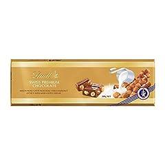 Idea Regalo - Lindt Gold Tavoletta Cioccolato Latte Nocciole, 300g