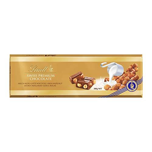 Lindt Gold Tavoletta di Cioccolato Latte e Nocciole, 300g