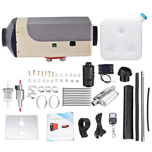 Goodtimera Calentador de estacionamiento para automóvil - Calentador diésel de Aire Compacto de 5KW 12V con Monitor de termostato LCD para camión y Bote RV