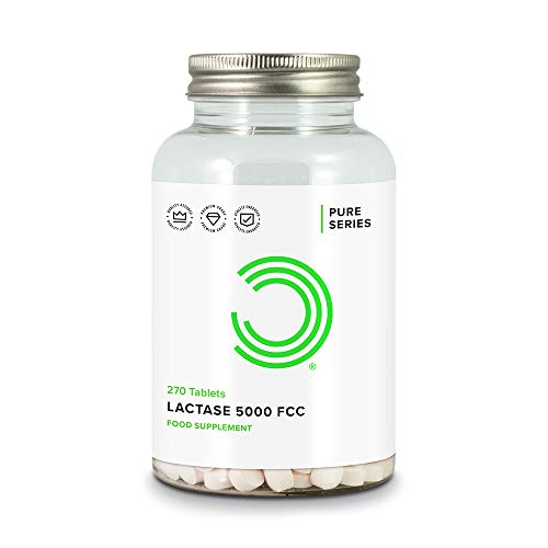 BULK POWDERS Pure Lactase Enzyme Tablets, 5000 FCC, Pack of 270