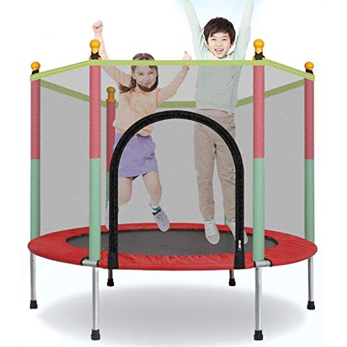 5 FT Trampoline with Safety Enclosure Net,Ladder Trampoline for Kids, Jumping Mat and Spring Cover Padding Outdoor Trampolin Fitness for Toddler, Children and Adults