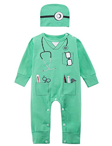 Paddy Field Baby Boys' Doctor Costume Romper Set(6-12 Months)