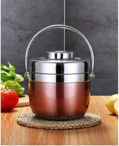BR&Lunch 1.5L Acero Inoxidable Food Thermos vacío Fiambrera Thermo Sopa contenedores Jar Aislamiento termos Rose Red