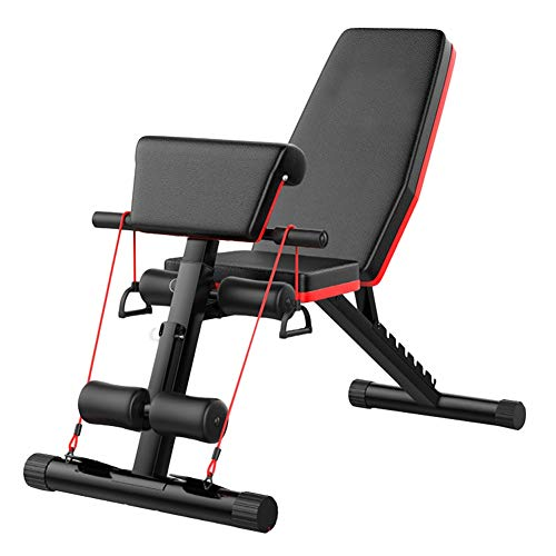 Multifunktions Hantelbänke Heavy Duty Fitness Tragbare Gewicht Verstellbare Bank Folding, Flat Incline Ablehnen Multiuse Übung Workout Bank, Heim Gym Sitzen Bank