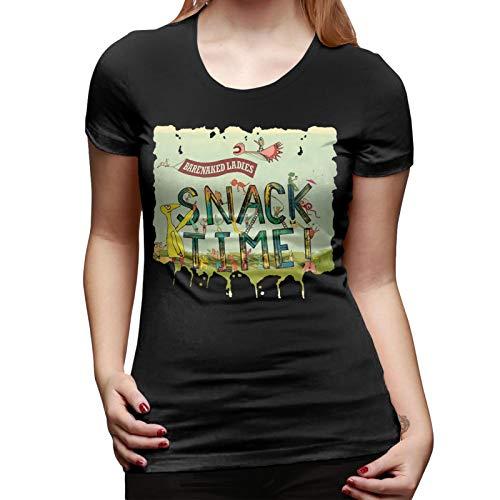 T-Shirt Women's Barenaked Ladies Snacktime Comfortable Blackshort Tee XL