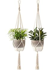 ecofynd Plastic Flower Pot, Ivory, 39 inch,2 Pieces