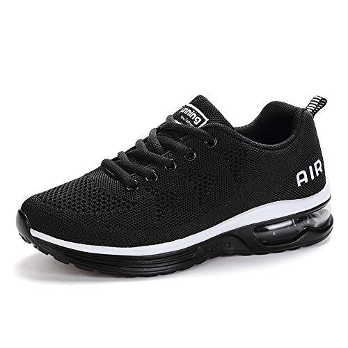 frysen Laufschuhe Herren Damen mit Dämpfung Sportschuhe Air Turnschuhe Luftsohlen Sneaker Luftpolster Schuhe Black 41