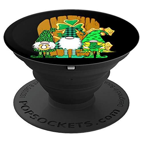3 langbeinige irische Gnome Green Plaid Gnome Tür - PopSockets Ausziehbarer Sockel und Griff für Smartphones und Tablets