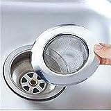 Evaluemart® Stainless Steel Sink Strainer Kitchen Drain Basin Basket Filter Stopper Drainer/Jali