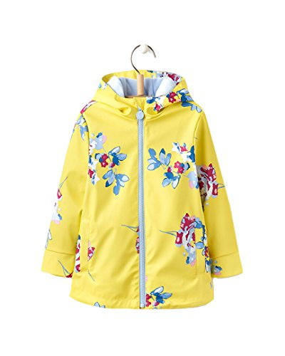 Tom Joule Tom Joule Baby-Mädchen Raindance Regenmantel, Gelb (Yellow Margate Floral Yelmflr), 92 (Herstellergröße: 2)