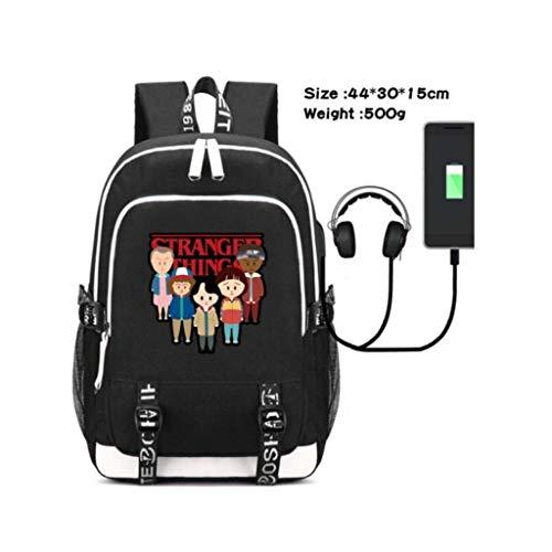 Junior rugzak voor kinderen 3D vreemdere dingen vreemde dingen outdoor reizen rugzak trendy student school tas rugzak schooltas met USB opladen poort 6