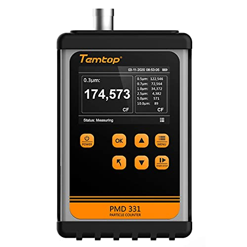 Temtop Particle Counter PMD 331 Clean Room Lab Dust Monitor 0.3μm~10μm [ISO Certified]