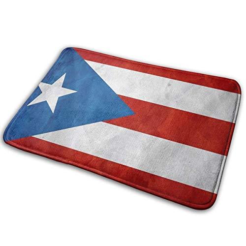 TS HOME ART Flag of Puerto Rico Carpets Floor Door Mat Indoor/Outdoor Area Rugs Garden Office Door Mat - Kitchen Dining Living Bathroom Pet Cat Dog Feeding Mat Pad Entry Rugs