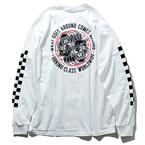【LURKING CLASS】ラーキングクラス 2021春夏 SKETCHY TANK スケッチータンク COPRO KARMA 3 L/S TEE Tシャツ ロングスリーブ 長袖 スケートボード アウトドア M〜XL WHITE WHITE L