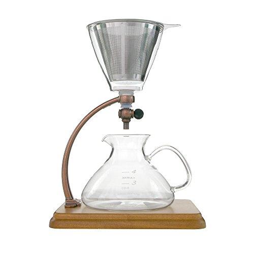 Yama Glass yamcd8S_br Silverton Coffee & Tea Brewer, 16OZ, BROWN