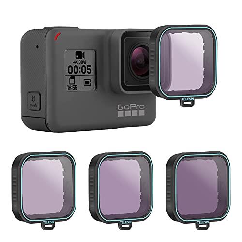 AuyKoo ND-Filter für GoPro 7/6/5, 3er Pack ND Objektivschutz Kit Set (ND8 ND16 ND32) Neutral Density Filter für GoPro Hero 7 Hero 6 Hero 5 Black