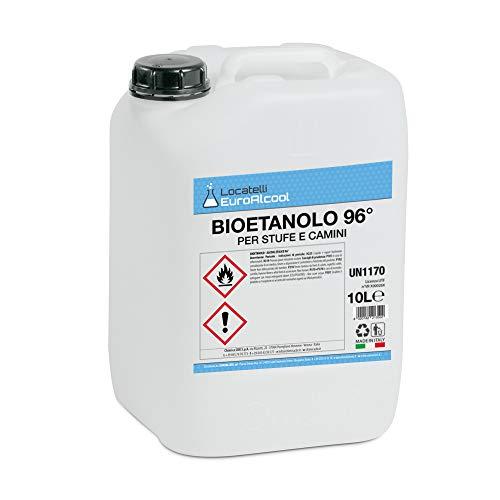 20 Litri di Bioetanolo Locatelli Euroalcool Made in Italy (2 tanica da 10 lt)