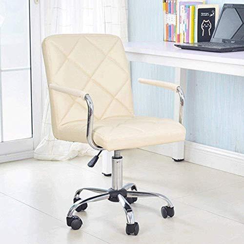 DGHJK Away Leather Office Chair, Gerippter Executive Computer Schreibtischstuhl Mit Hoher Rückenlehne, Style Designer Barber Wheels Chair (Farbe: H)