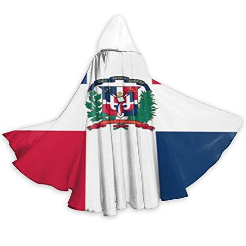 Amanda Walter Capa de Adulto para Halloweenn Bandera de Repblica Dominicana Traje Largo Unisex Disfraz de Halloween Capa de Uniforme Capa
