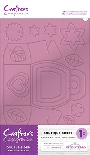Crafter's Companion EMBRD-BBOX Ultimative Prägeplatten Lila-Purple, Plastic, Embossing Boards - Boutique Boxes, 37 x 22.8 x 0.2 cm