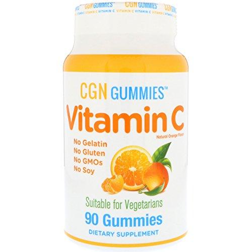 California Gold Nutrition, ビタミンCグミ ゼラチンフリー、グルテンフリー 自然なオレンジ味 90グミ [並行輸入品]