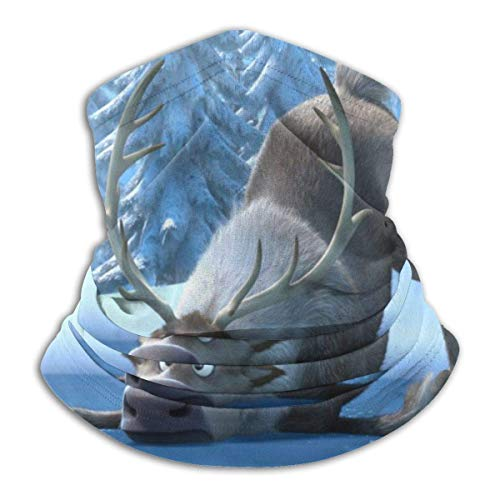 XCVD The Fro-zen Ultimate Comfort Calentador para el cuello Máscara facial Escudo Bandana súper protectora Diadema Gorro a prueba de viento Boca a prueba de polvo Mascarilla bufanda mágica