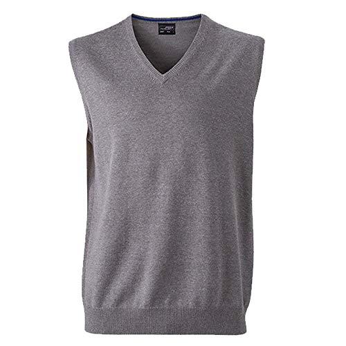 Klassischer Herren Baumwoll-Pullunder XL,grey-heather