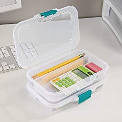 commercial Small sterile split storage box, transparent sterilite pencil box