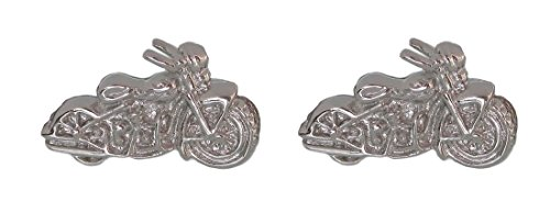 magdalena r. Manschettenknöpfe Motorrad Bike silberfarben glänzend kleinere Ausführung!