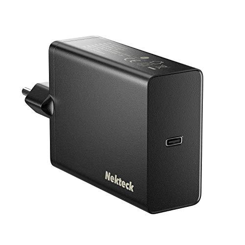 Nekteck USB C Cargador de Red 60W Power Delivery para computadoras portátiles, MacBook Pro, iPad Pro 2018 Amazon Fire Tablet Galaxy S10 / S9, iPad, Pixel 3A / 3A XL y más