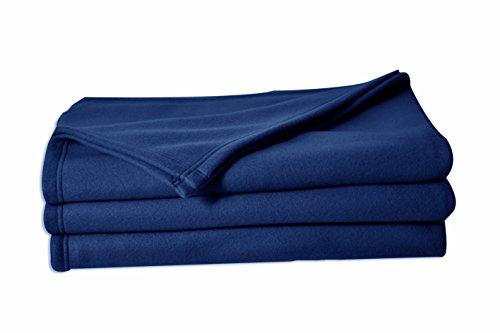 POYET MOTTE POLECO Couverture polaire Polyester Marine 240 x 260 cm