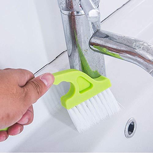Generies 1 Stück Mehrzweck-Fensterrillen-Reinigungsbürste Tastaturecke und Cranny Dust Kleine Schaufel-Fensterbahn-Reinigungsbürste