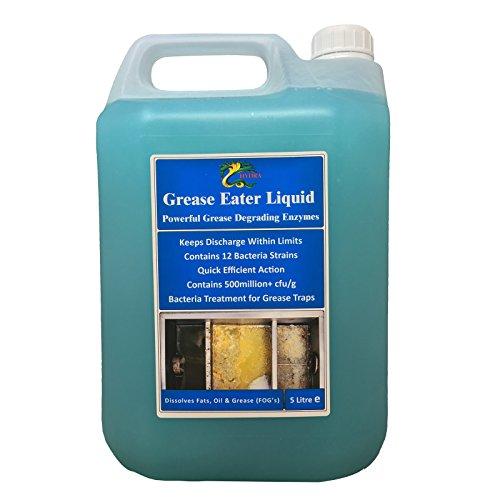 Hydra Fett Eater Enzym Liquid + Entfetter + Fett Öl Entferner + Ablauf halten, 5 l