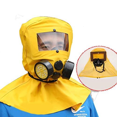 Volgelaats gasmasker PM2.5 gasmasker Zelfaanzuigend gasmasker met lange buis, gasmasker, blowout preventer, pesticide gifgas, met filtertank