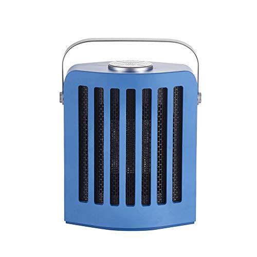 RR-YRF Desktop Desktop Heater PTC Ceramic Heater Fast Heating with Constant Temperature 3 Gears Temperature Adjustment Wide-Angle Oscillation Ultra-Quiet,Blue