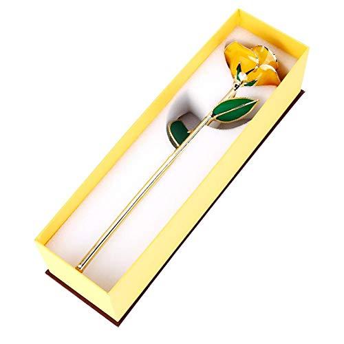Echte ewige vergoldete Rose Goldfolie Rose, 24 Karat Gold getaucht Echte Rose Rote Rose Valentinstag Blumengeschenke für Sie