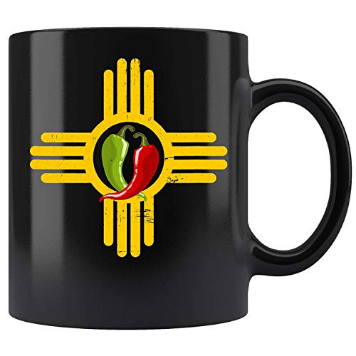 New Mexico Southwest Zia with Red and Green Chile Coffee Mug 11oz Tea Cup