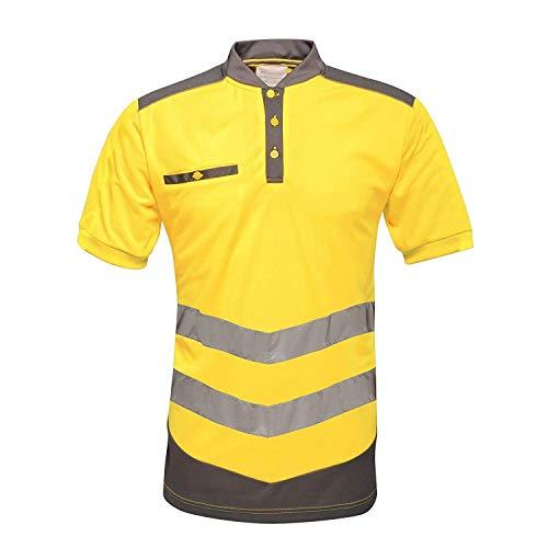 Regatta Herren Poloshirt in Warnfarben (M) (Gelb/Grau)