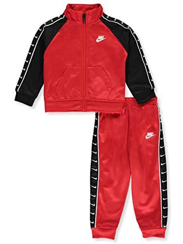 Nike Tuta da Neonato Swoosh Tape Tricot Rossa 66G343-U10 (18 M)