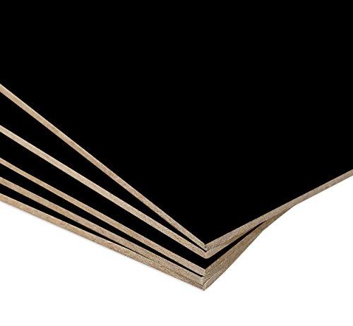 Tablero MDF Negro para decoración, manualidades, marquetería - 75 x 25 cm - Grosor 2,5 mm - 5 unidades