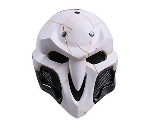Zhangjianwangluokeji Maske für Erwachsene Tod Karneval Saw Fasching Maske Kostüme Geist (Weiß)