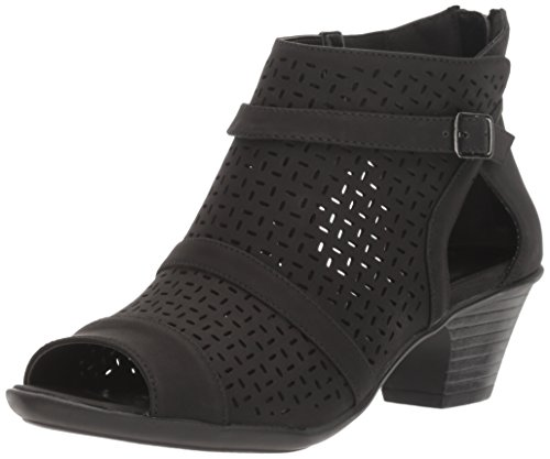 Easy Street Women's Carrigan Heeled Sandal, Black, 9 W US