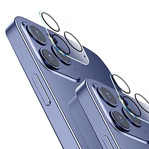 『2枚 アップグレード版』iPhone 12 Proカメラフィルム 高透過率 カメラ全体保護 超薄型 0.2mm バーストを防ぐ 強い吸着 液晶保護フィルム 硬度9H 日本旭硝子 6.1インチ (iPhone12)