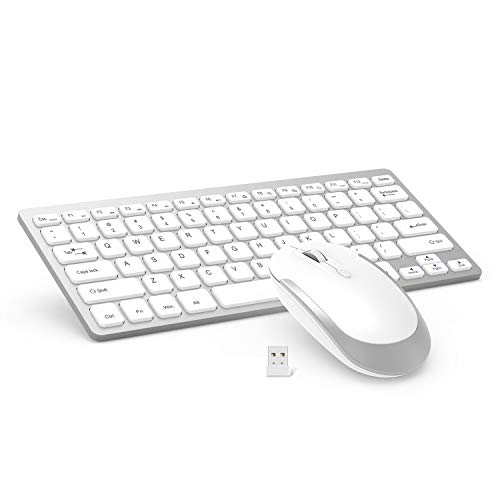 Wireless Keyboard and Mouse with Round Keys (Pink)